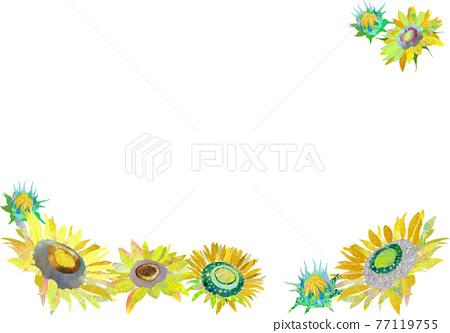 Summer sunflower background 77119755
