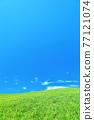 清新的夏日藍天和高原景觀 77121074