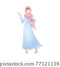 Beautiful Muslim female cartoon standing 77121136