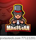 Magician mascot esport logo design 77122201
