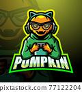 Gamer pumpkin mascot esport logo design 77122204