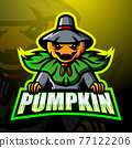 Halloween pumpkin mascot esport logo design 77122206