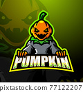 Halloween pumpkin mascot esport logo design 77122207