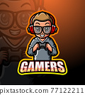 Gamer boy mascot esport logo design 77122211