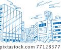 城市 畫線 建築 77128377