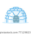 Ice igloo ice house vector 77129823