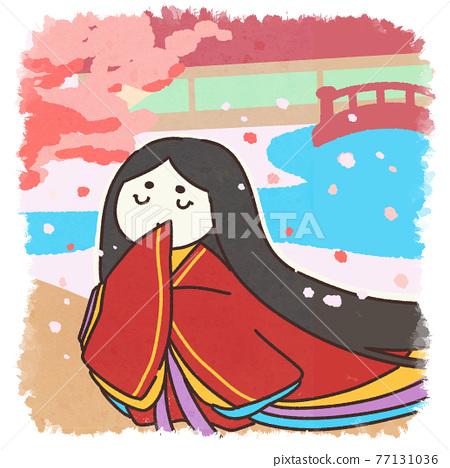 twelve-layered ceremonial kimono, female, females 77131036