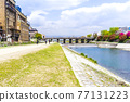 Kamo River in spring 77131223