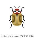 cartoon potato beetle isolated on white background 77131794