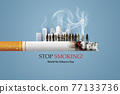No smoking and World No Tobacco Day 77133736