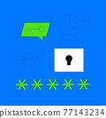 Password manager illustration 77143234