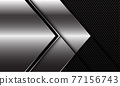 Abstract silver black line arrow direction on black circle mesh pattern design modern luxury futuristic background vector illustration. 77156743