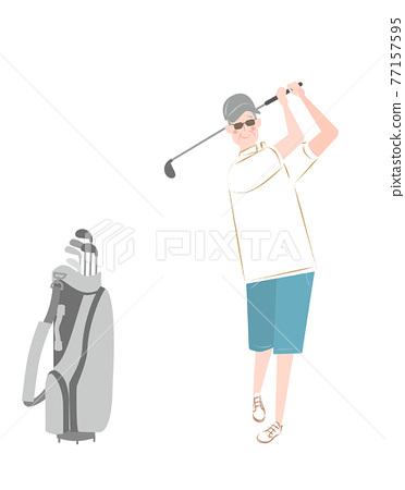 골프, 시니어, 노년 77157595