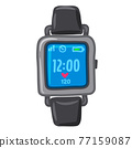 digital wristwatch icon 77159087