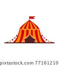 Cartoon vector illustration isolated object amusement park circus tent 77161210