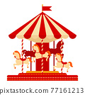 Cartoon vector illustration isolated object amusement park 77161213