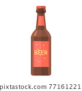 Cartoon vector illustration isolated object drink beer glass bottle 77161221