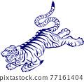 vector, vectors, tiger 77161404
