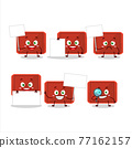 Red plastic tray cartoon character bring information board 77162157