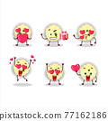 Mashed potatoes cartoon character with love cute emoticon 77162186
