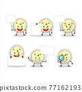 Mashed potatoes cartoon character bring information board 77162193