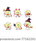 Halloween expression emoticons with cartoon character of mashed potatoes 77162201