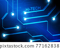 Circuit technology background with hi-tech digital 77162838