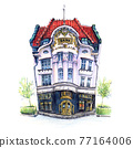 Old house in Poznan, Poland 77164006
