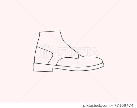 Boot, shoe icon. Vector illustration, flat design. 77169474
