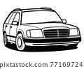懷鄉德國無蓋貨車著色汽車例證 77169724