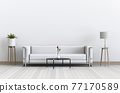 Living room interior in modern style, 3d render with sofa 77170589