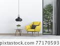 interior design for living area with armchair. 3d render 77170593