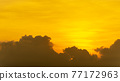 morning orange sky and cloud nature background 77172963