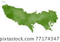 日本地圖 地圖 矢量 77174347
