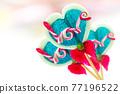 Lollipop in heart shape 77196522