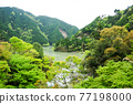 View of the tenryu river from Oozore station. 77198000