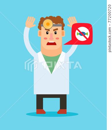 Dentist cartoon character giving advice 77200720