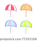 矢量 傘 夏天 77203168
