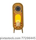 Vintage music object. Retro audio jukebox. Color symbol design. Vector illustration design template 77206445