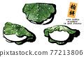 矢量 柏市麻薯(包裹在橡樹葉子裡的年糕) 和果子 77213806