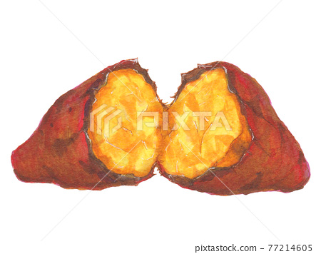 Hand-painted food and drink menu, roasted sweet potato 77214605