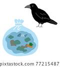 垃圾 烏鴉 鳥兒 77215487