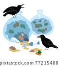 垃圾 烏鴉 鳥兒 77215488