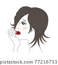 一位女士臉頰貼 77216733