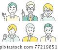 vector, vectors, facial expression 77219851