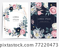 Vector illustration of a beatiful floral frame set in spring for Wedding, anniversary, birthday and party. Design for banner, poster, card, invitation and scrapbook  77220473