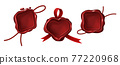 Red wax seal stamps for letter, document or certificate 77220968