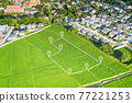 Land plot in aerial view for development or investment. 77221253