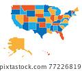 Generalized retro map of USA 77226819