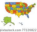 Generalized retro map of USA 77226822